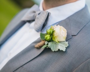 David Austin Rose Buttonhole