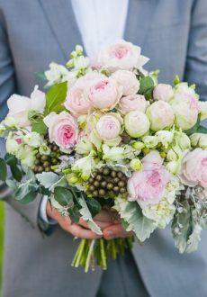David Austin Rose Wedding Bouquet