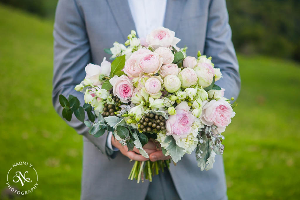 David Austin Rose Wedding Bouquet