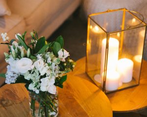Side table flowers