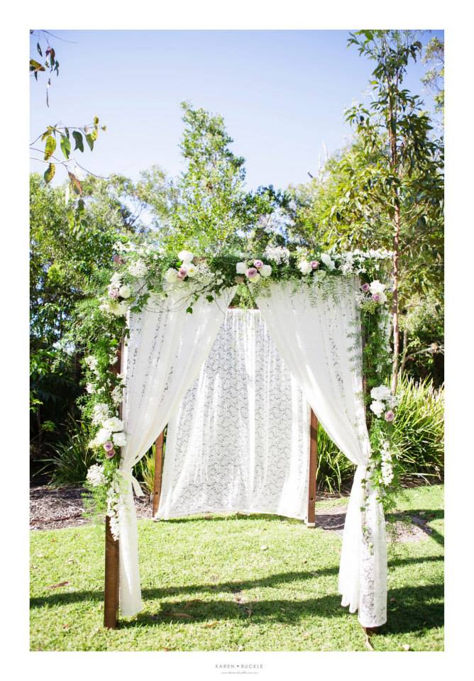 Ceremony garland floral feature
