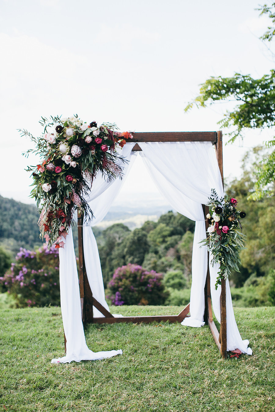 Wedding Ceremony Flowers Sunshine Coast Featuring Love Rings