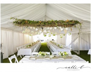 Hanging floral structures Mondo Floral Designs