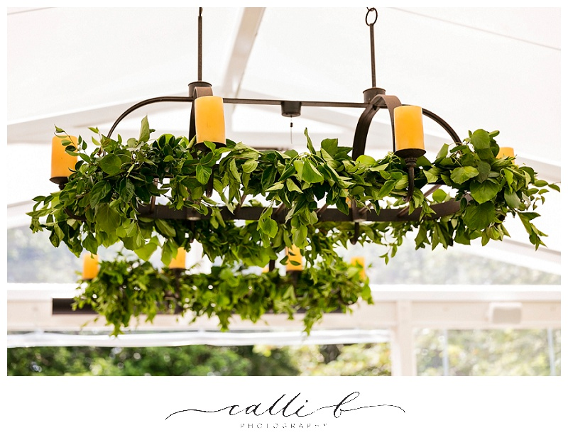 Chandelier greenery wraps