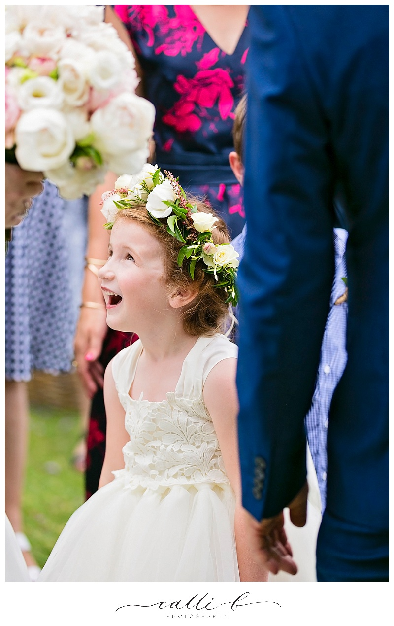 Flower girl halo with David Austin roses