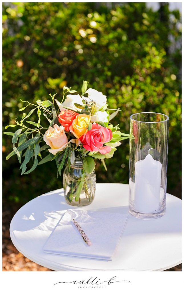 Rustic registry design flowers