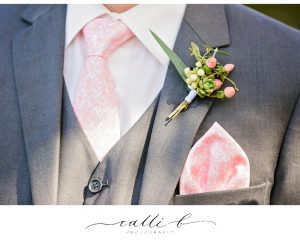 Buttonhole with berries and succulents