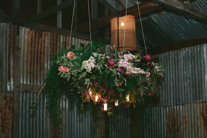 Bright rustic hanging installation