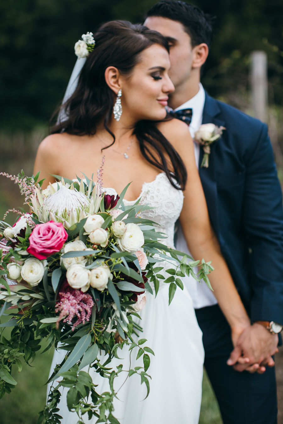 Bohemian rustic wedding bouquet