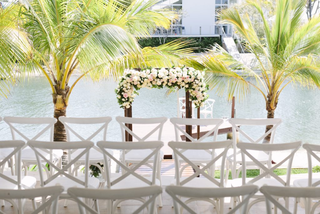 Ceremony arbour featuring roses