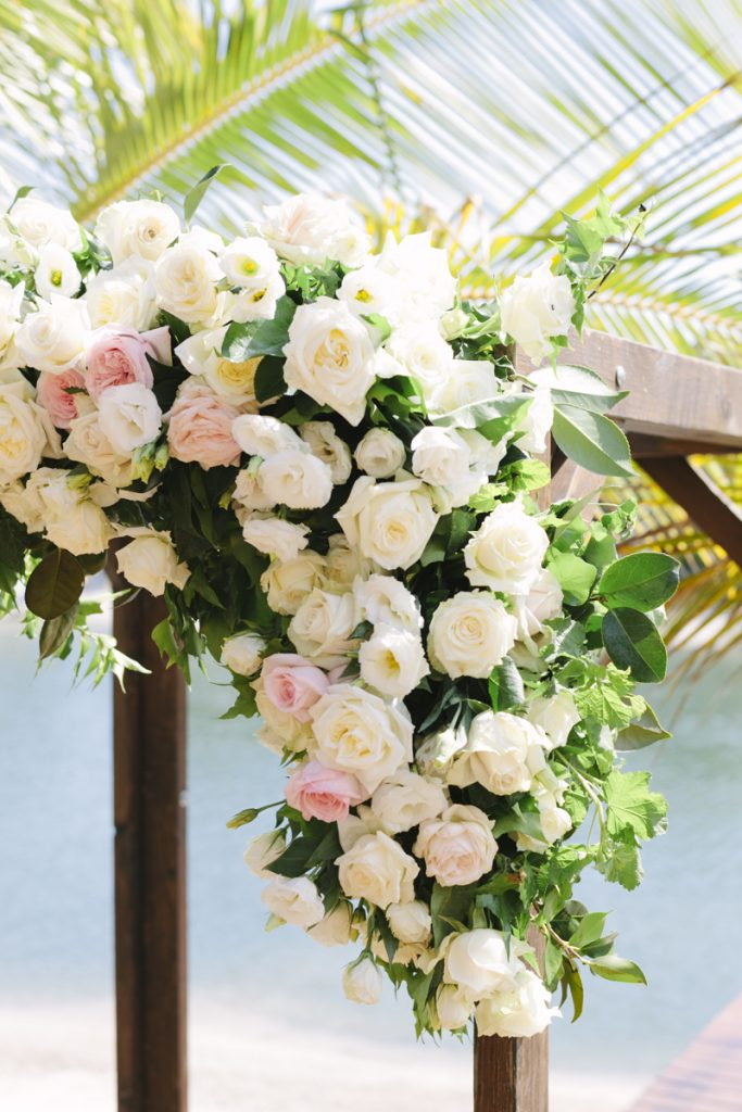 Ceremony arbour floral feature