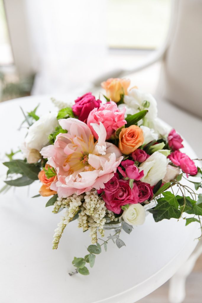 Registry design featuring peonies and roses