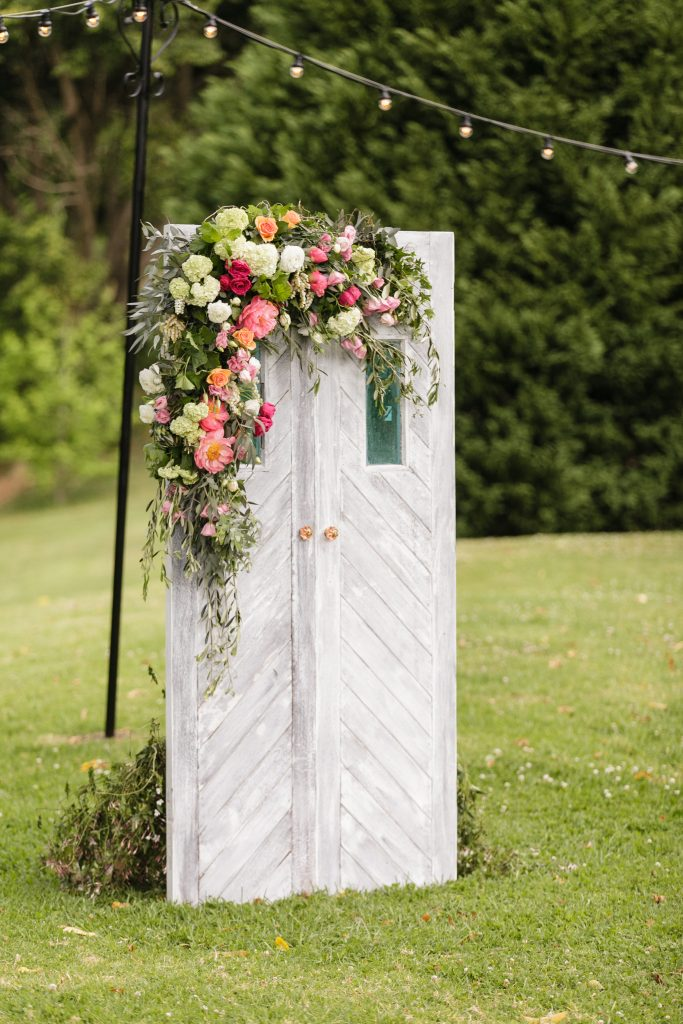 Ceremony door floral features