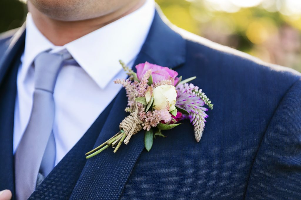 Rose and flowering filler buttonhole