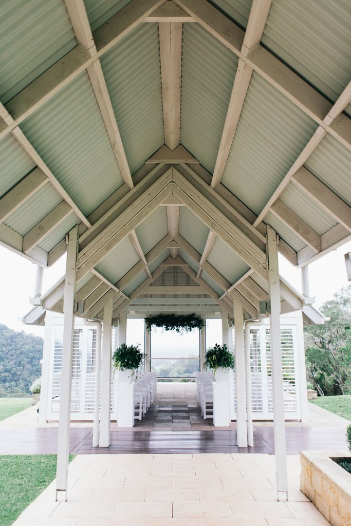 Ceremony greenery feature designs