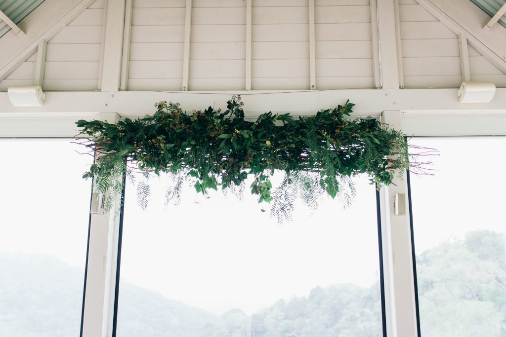 Hanging installation with lush greenery