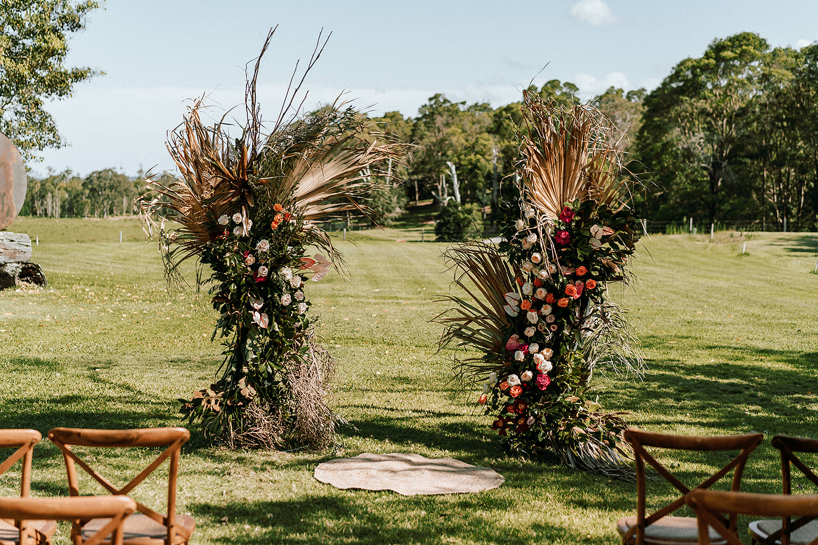 Bohemian free standing ceremony designs