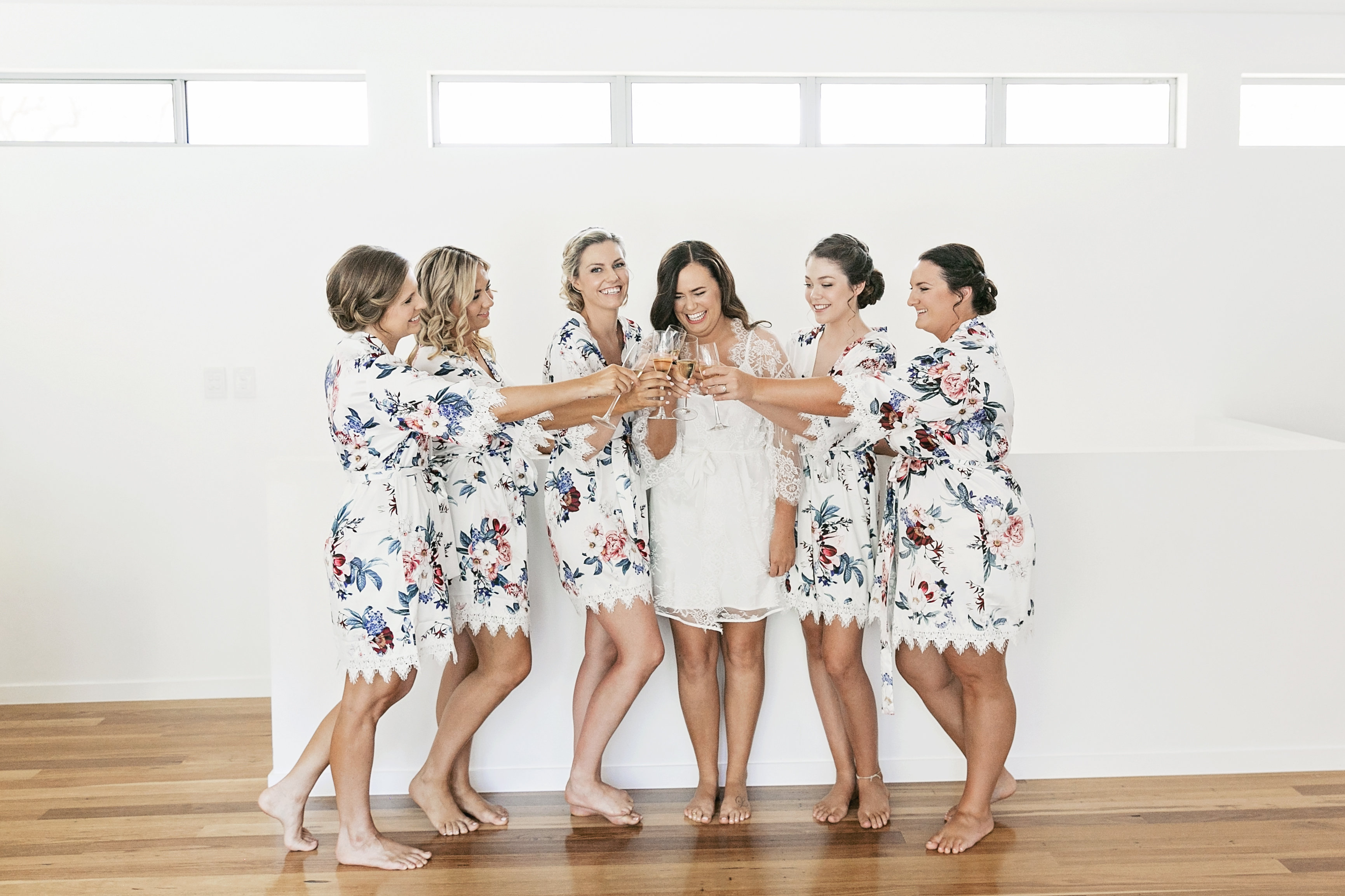 Sunshine Coast Noosa wedding featuring bright flowers