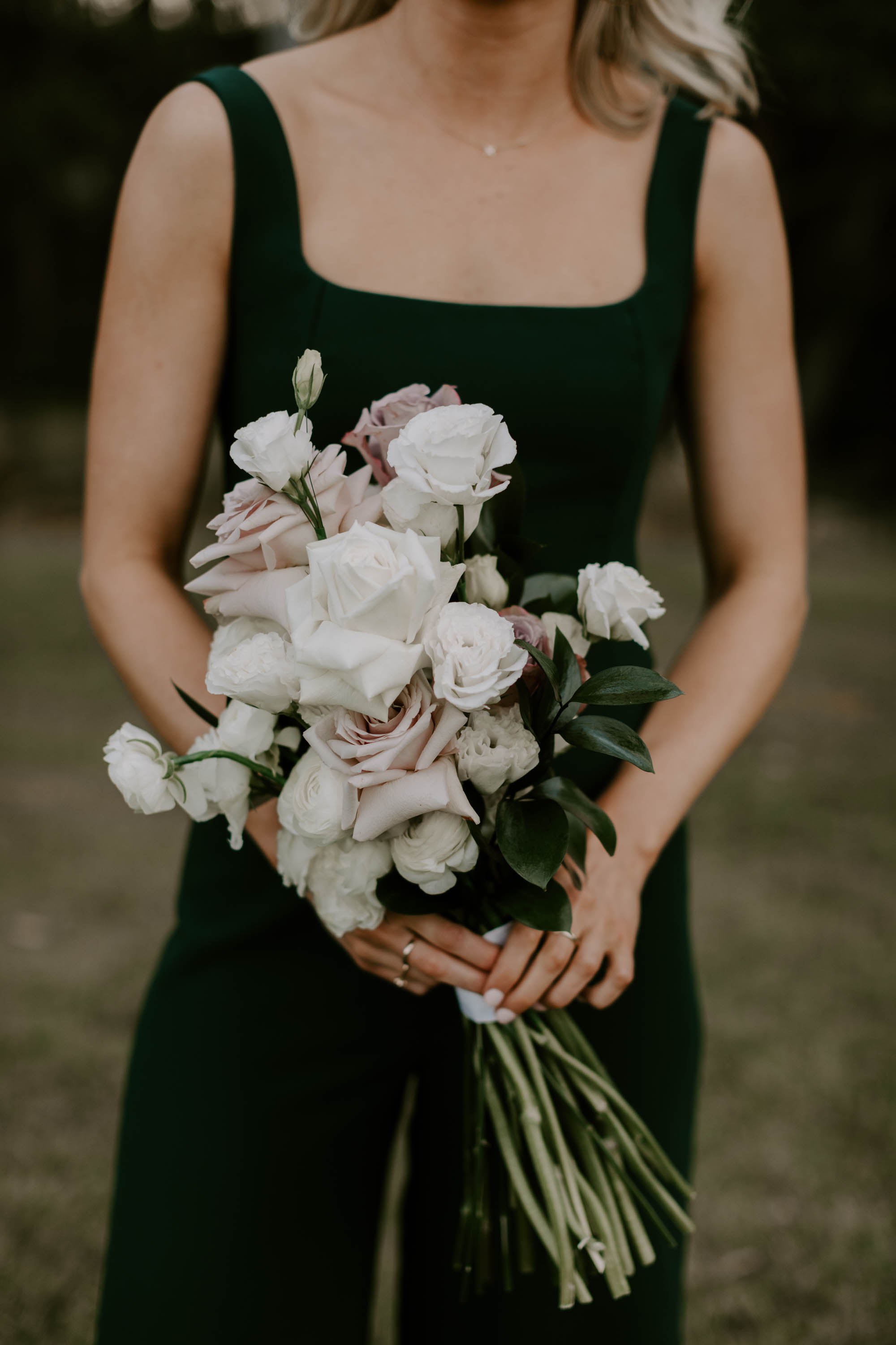 Modern chic bridesmaid bouquet