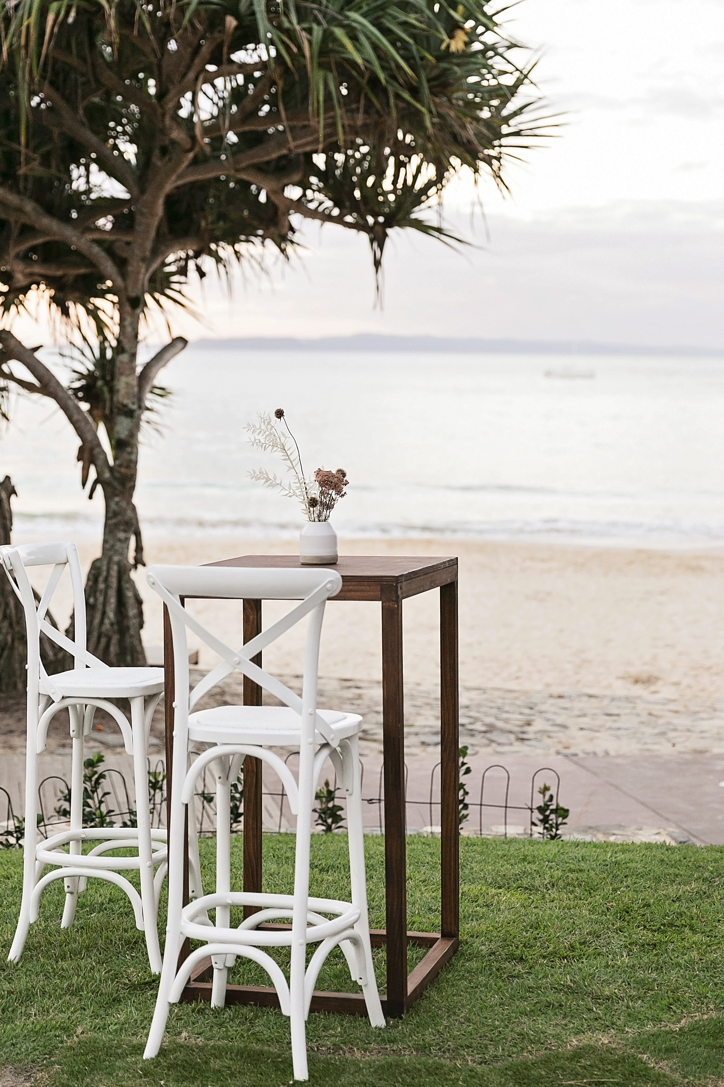 Tobacco and White Wedding Style Noosa