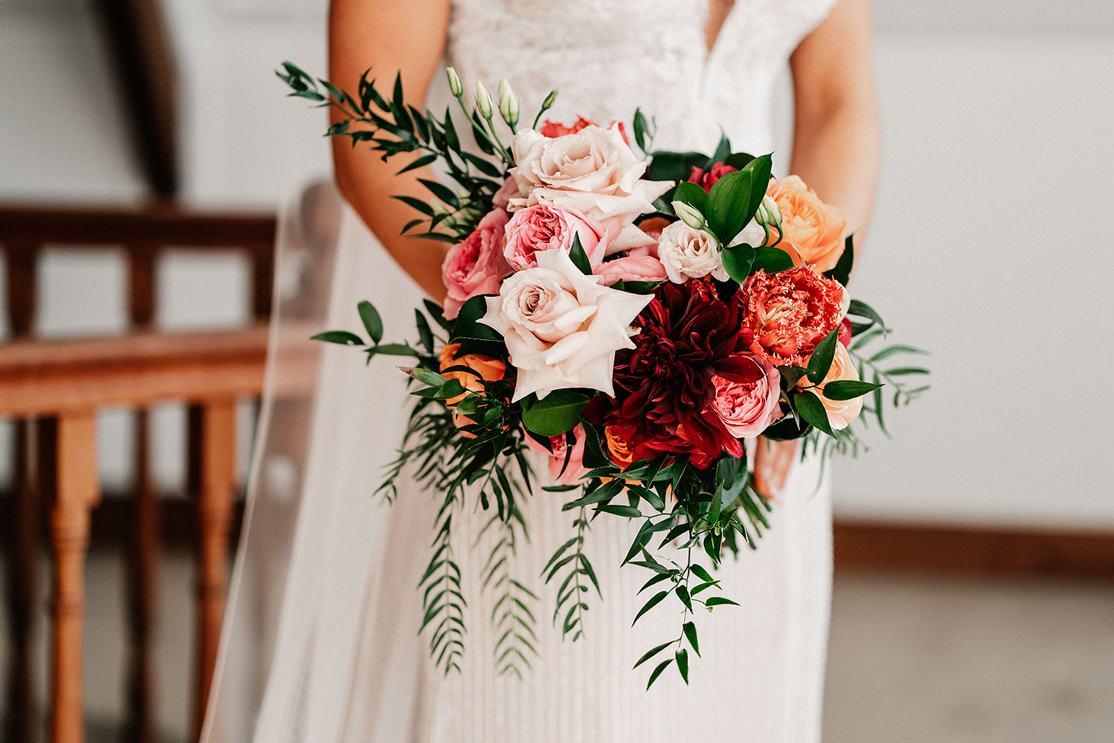 Bright Coloured Wedding Flowers Sunshine Coast Wedding