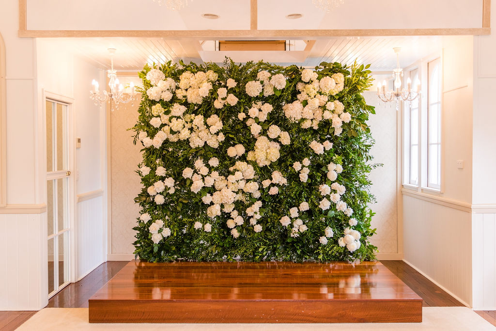 Flower Wall Ceremony Backdrop