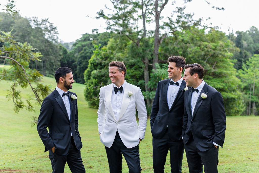 Tom Ford Groom and Groomsmen Wedding Suits