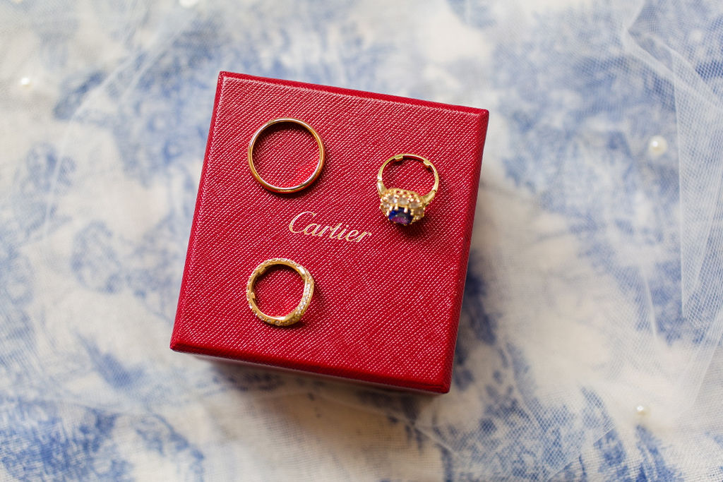 Catier Engagment Ring With Matching Bridal Bands Omega Watch & Dolce & Gabbana Bridal Acessories