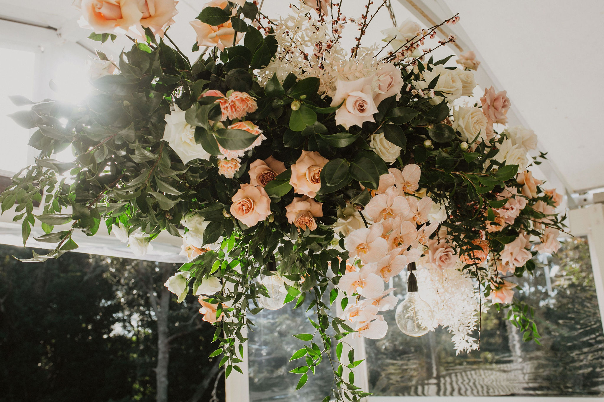 Antique pinks, whites and romantic blush blooms