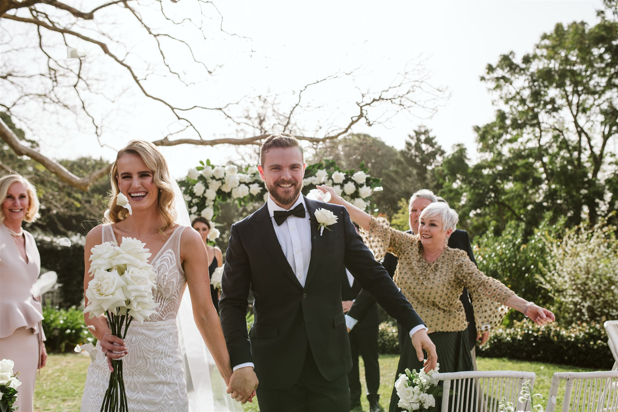 Spicers Clovelly Estate Modern Glam Wedding With White Roses