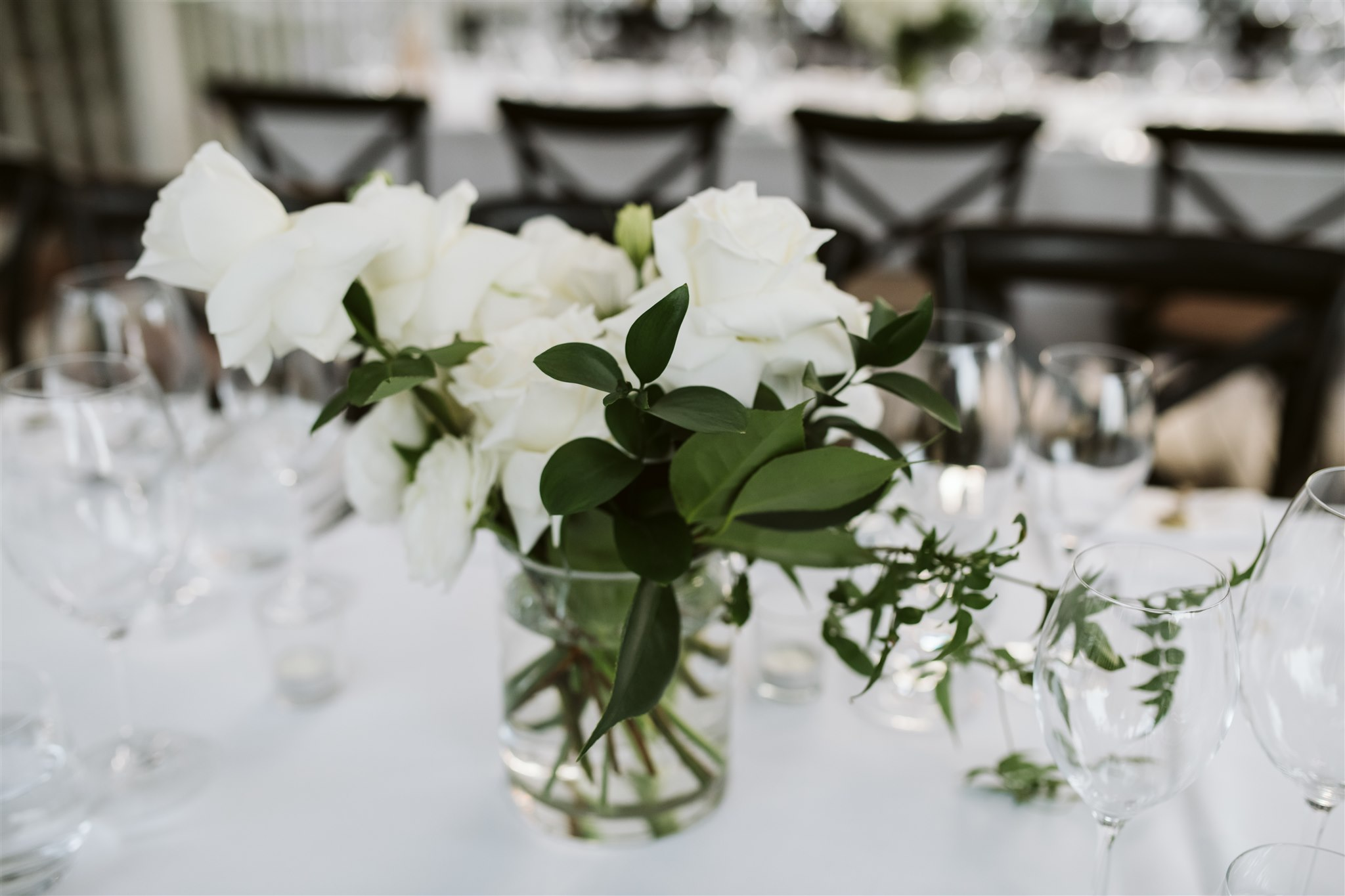 White Wedding Flowers With Modern Elegant Styling