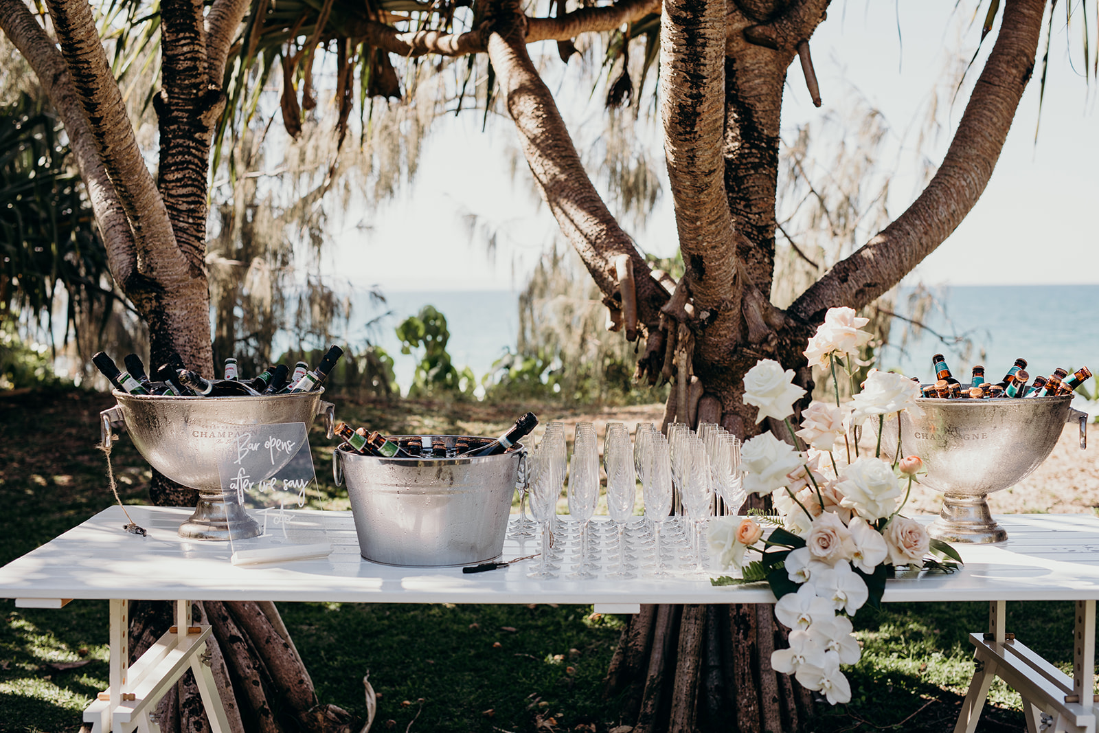 Coastal Contemporary Flowers, Roses and Orchids