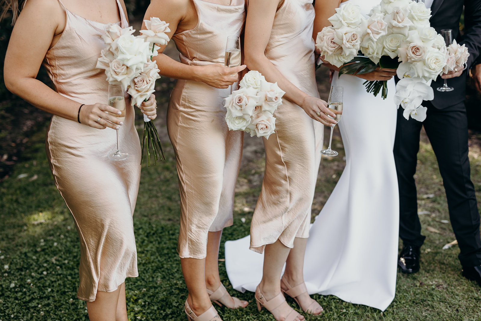 Antique Pink, White, Ivory and Blush wedding flowers