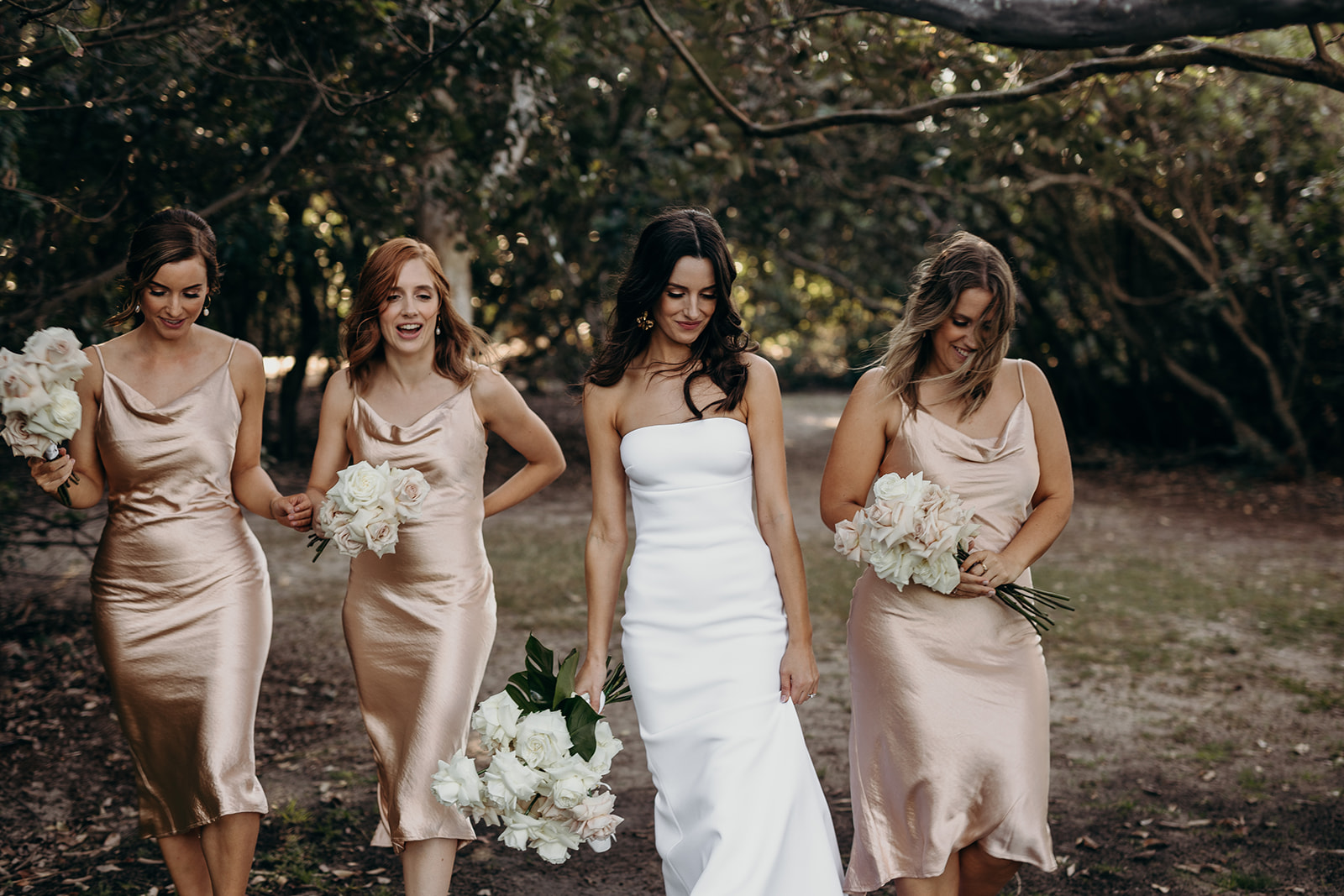 Sails Restaurant Noosa Wedding Featuring Orchids and Roses