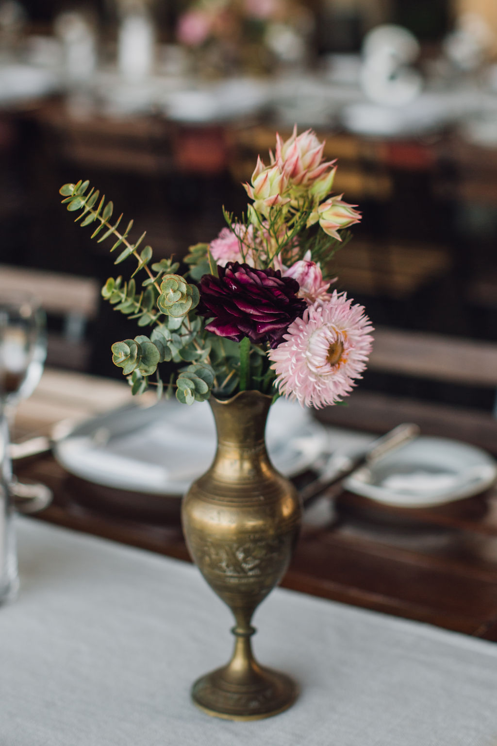 Rustic Inspired Wedding Flowers with King Proteas