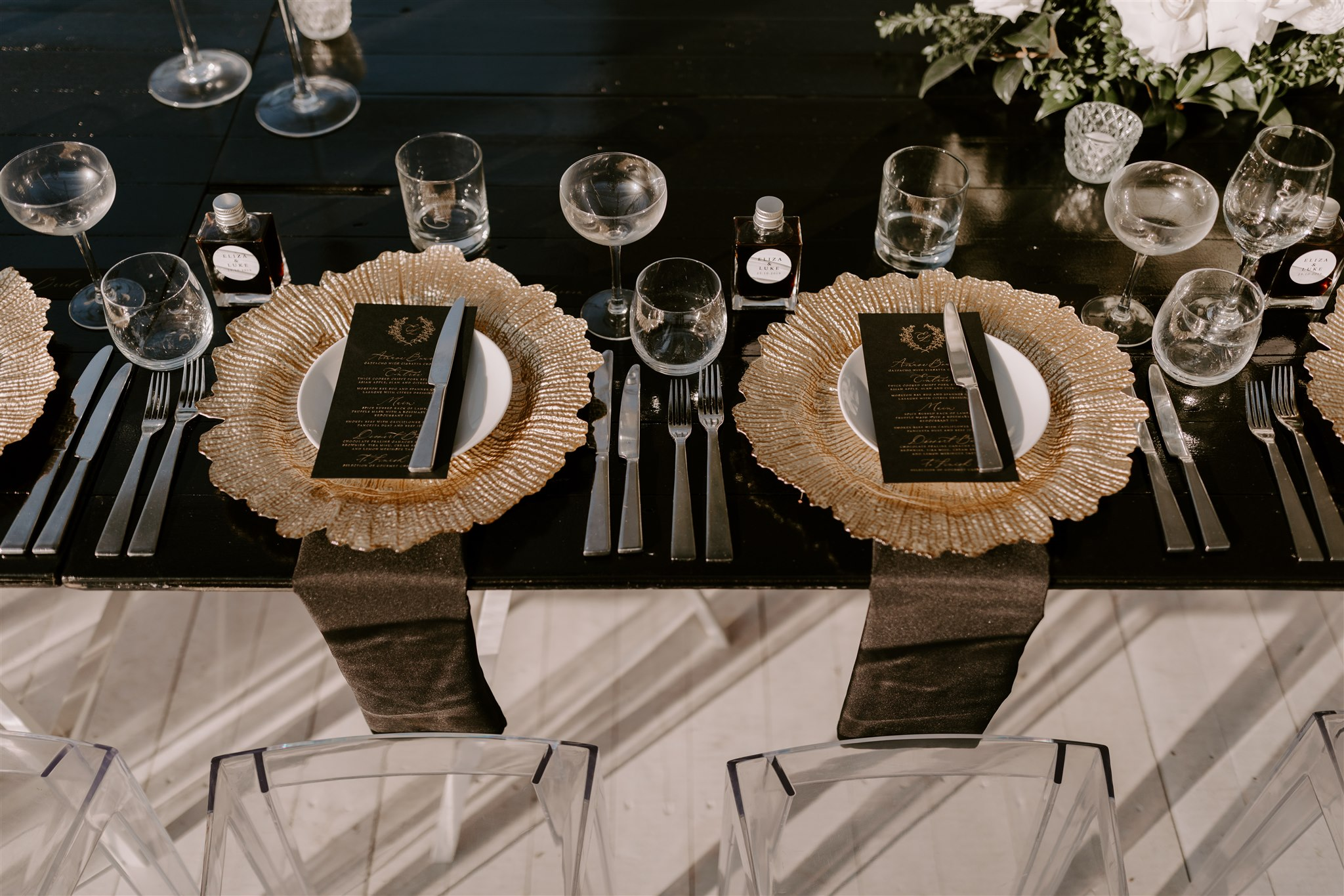 Modern contemporary reception styling
