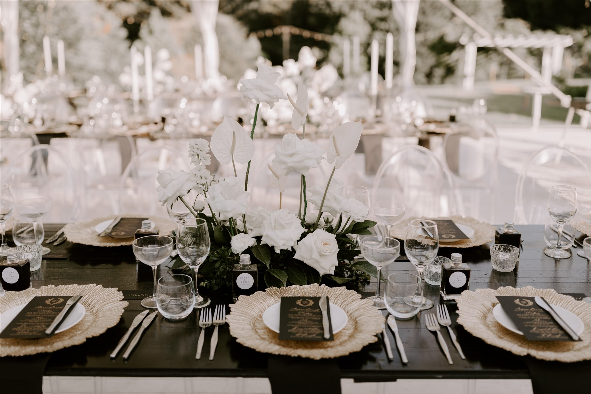Low lying floral table designs