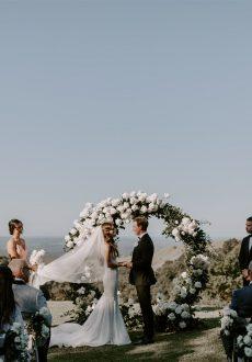 Glamorous marquee wedding