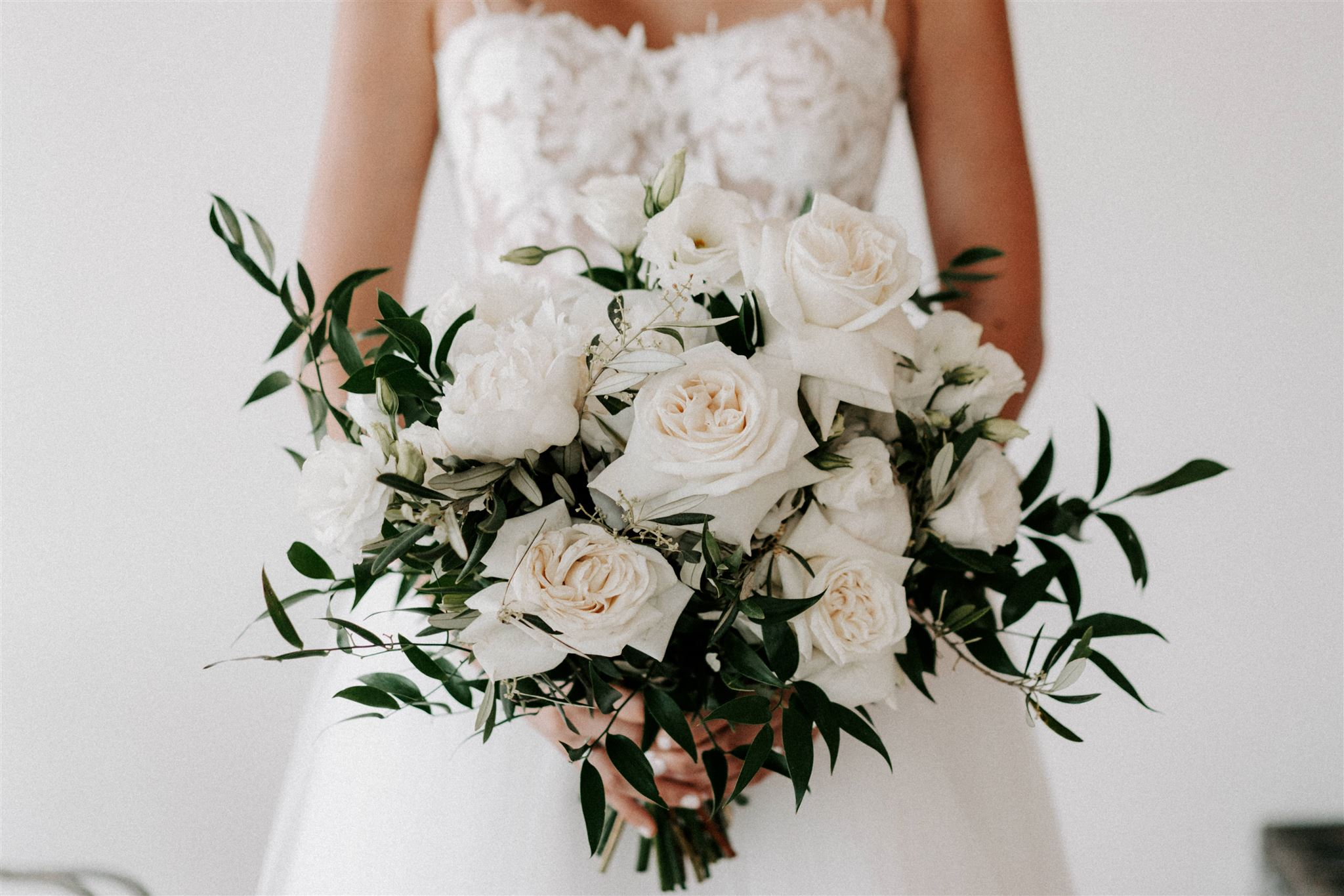Rustic white Bridal bouquet sunshine coast