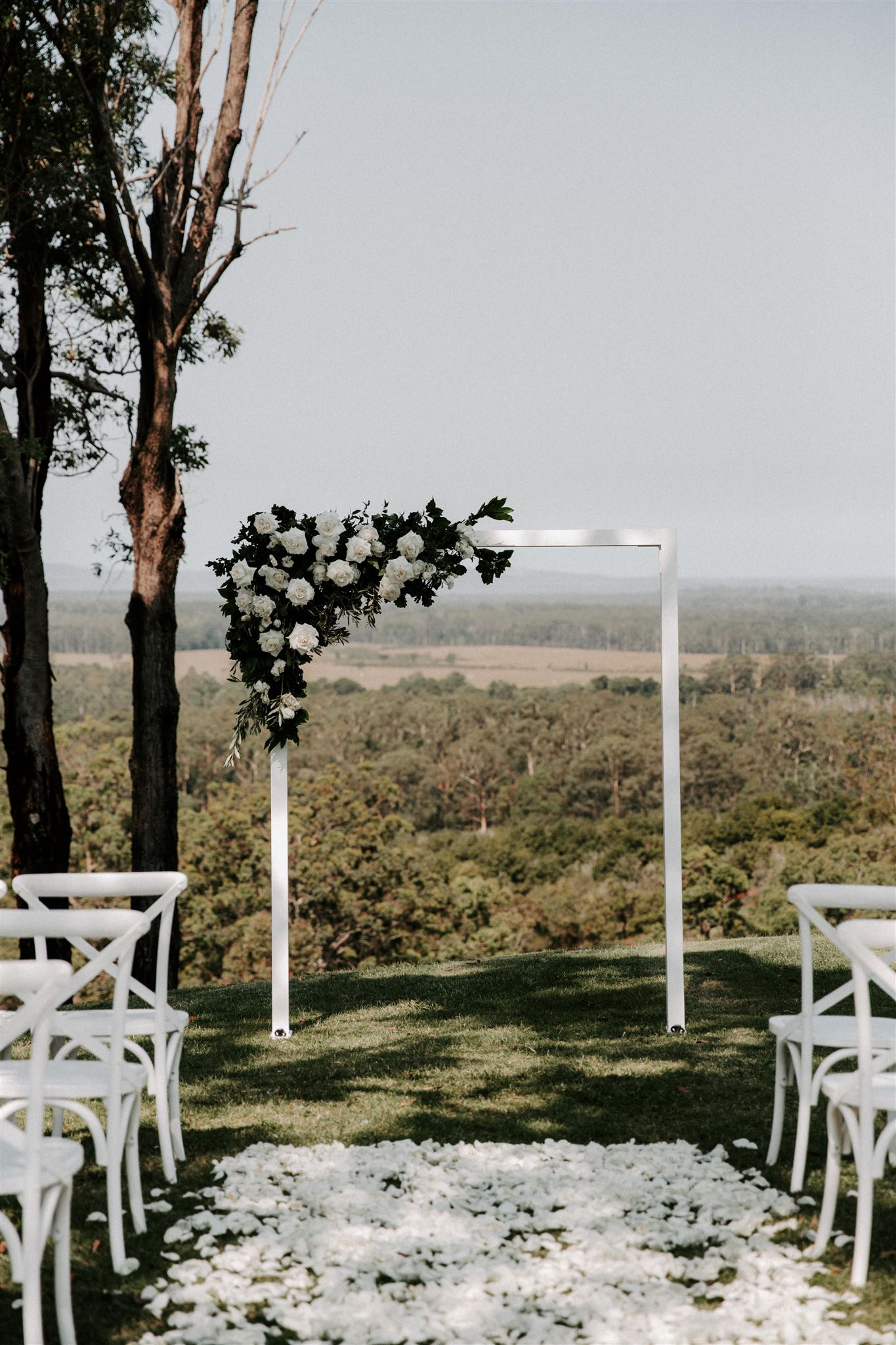 Sunshine coast ceremony with a view
