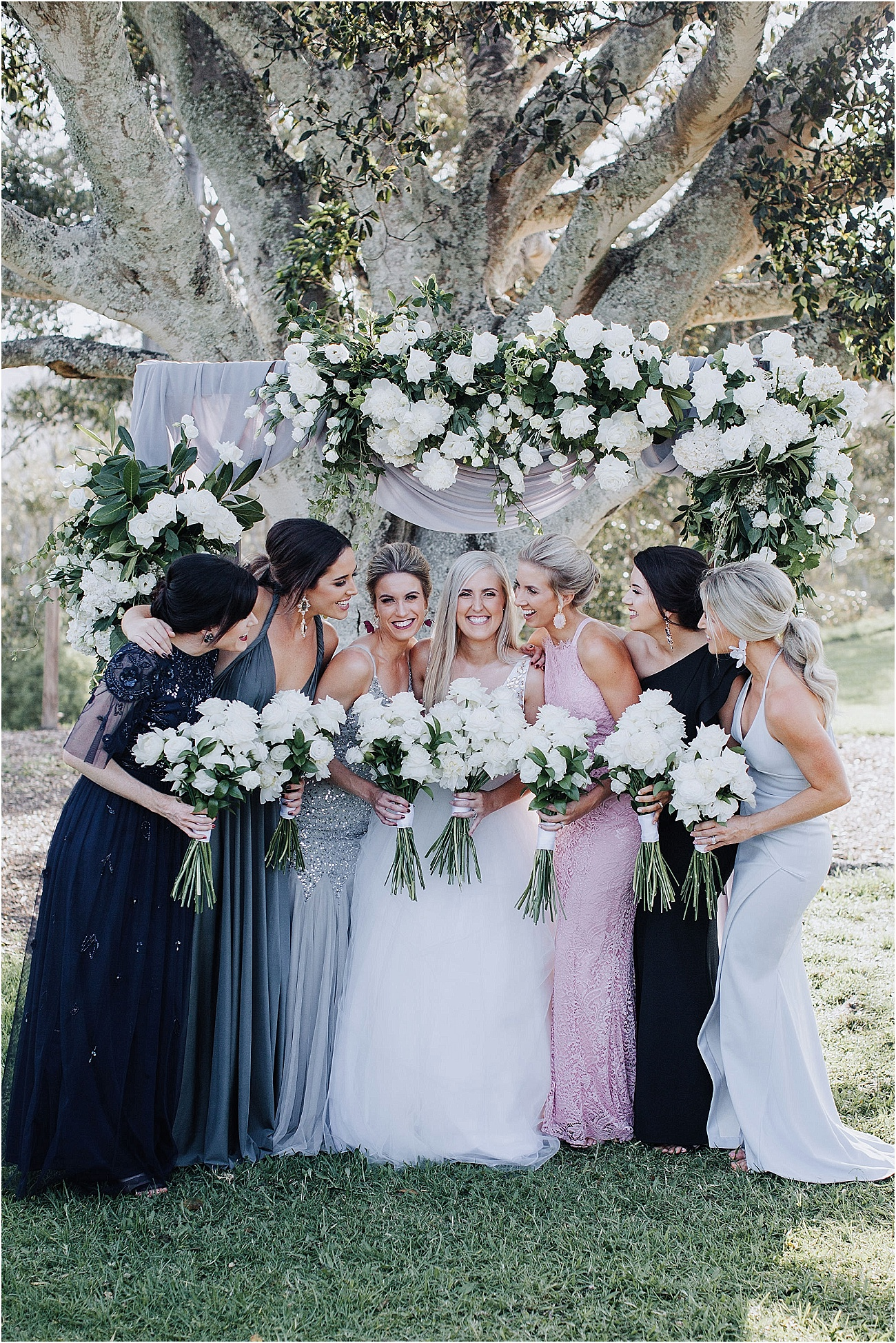 Modern country wedding flowers