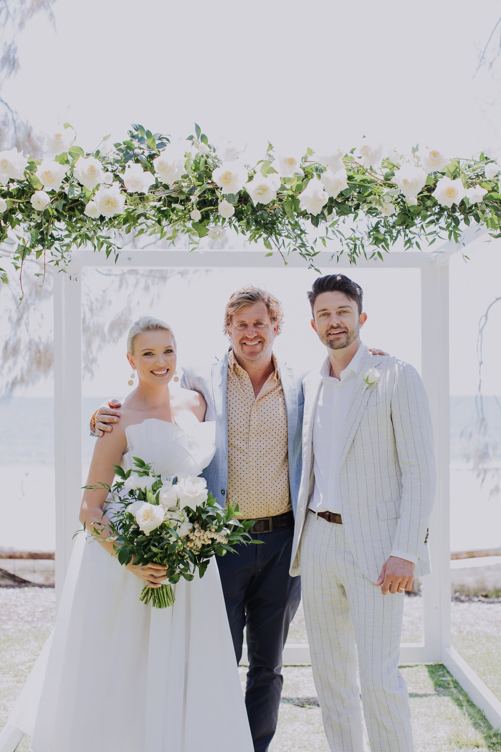 Coastal white wedding concept