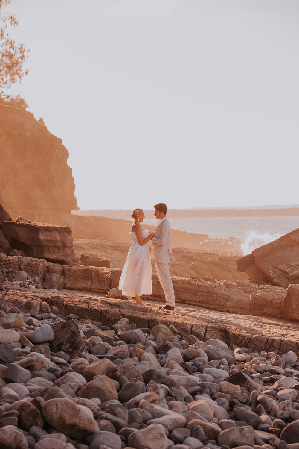 Modern coastal weddings