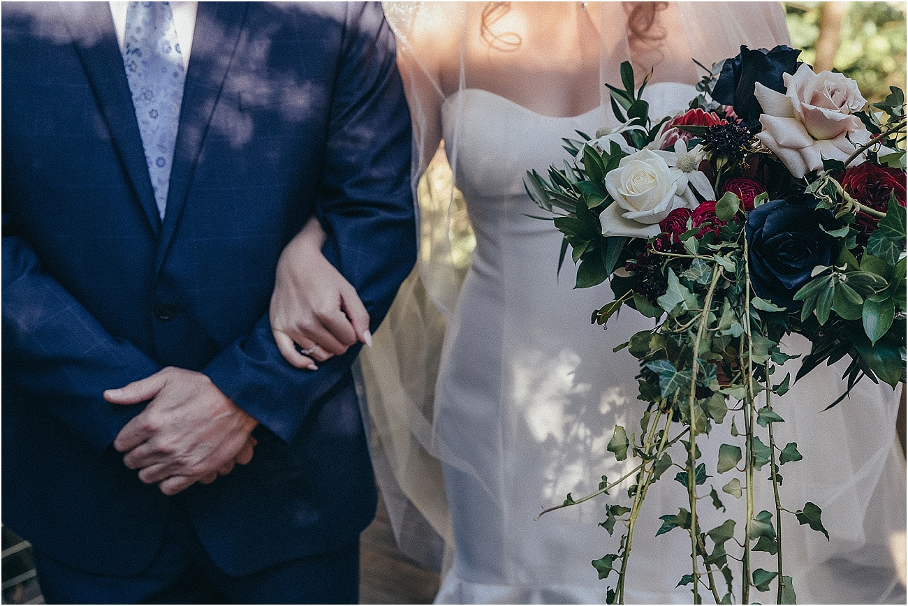 Rustic rambling wedding bouquet