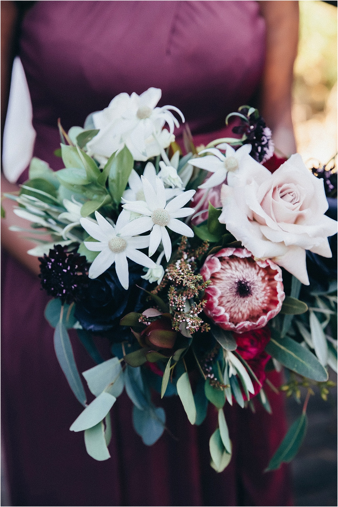 Rustic inspired bridesmaids bouquet