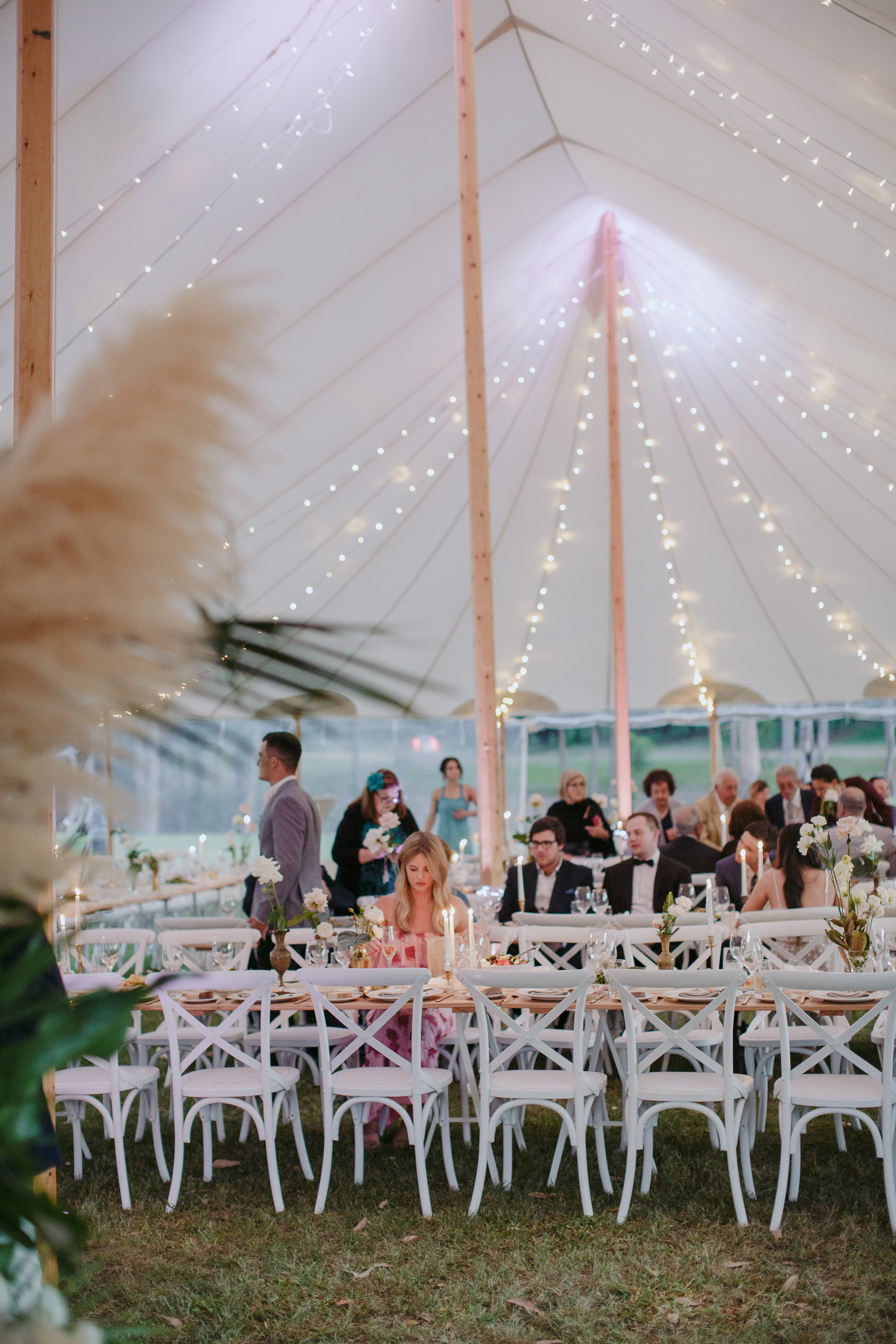 Sperry tent wedding Sunshine Coast