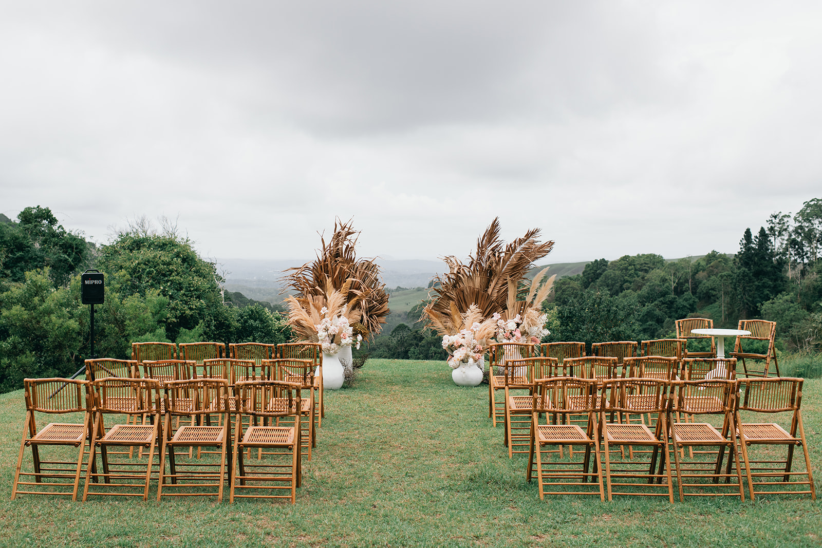 Modern Botanical Wedding Blooms with Roses and Preserved Fillers