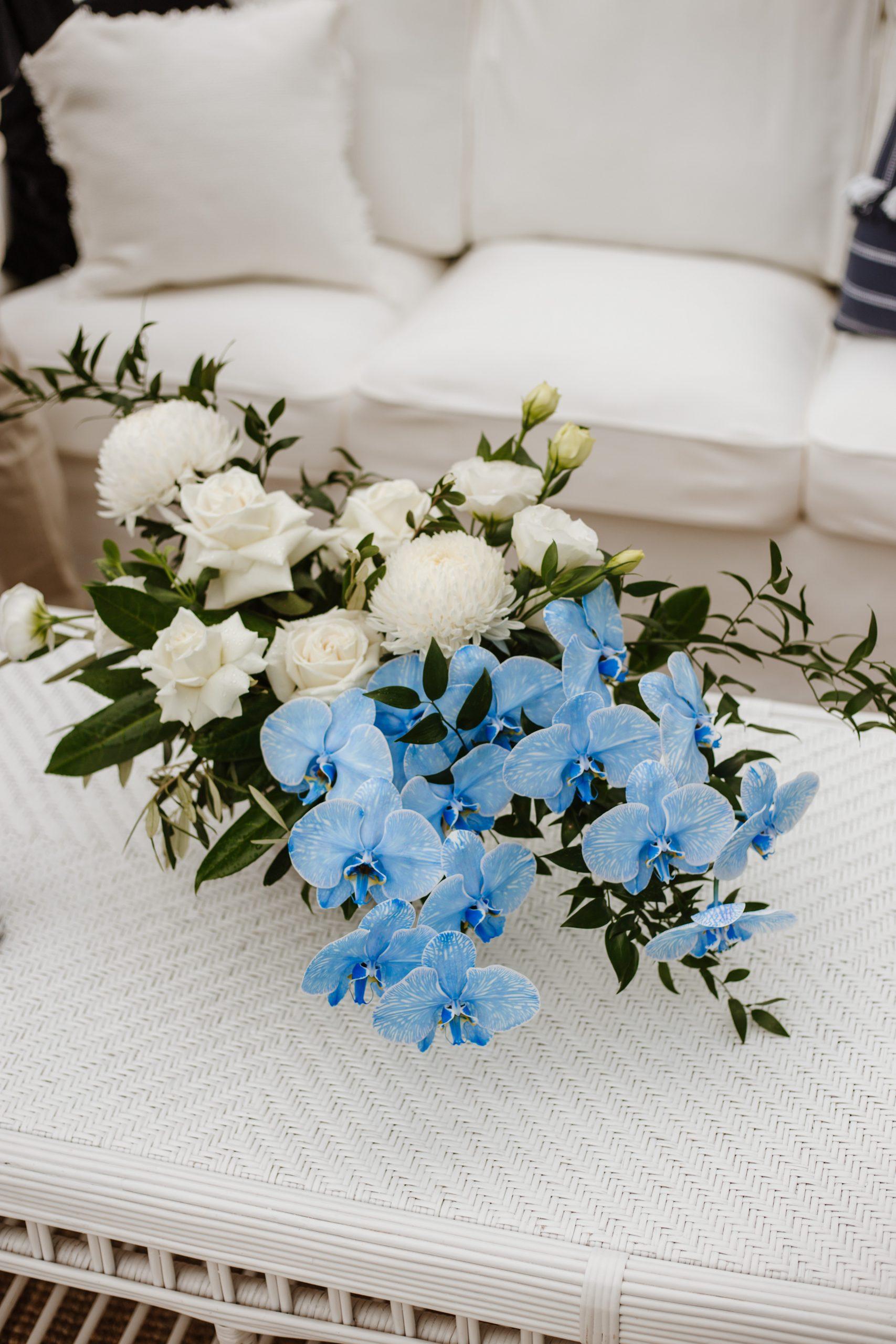 Blue Phalaenopsis Orchid Wedding