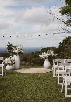 modern contemporary at maleny manor wedding