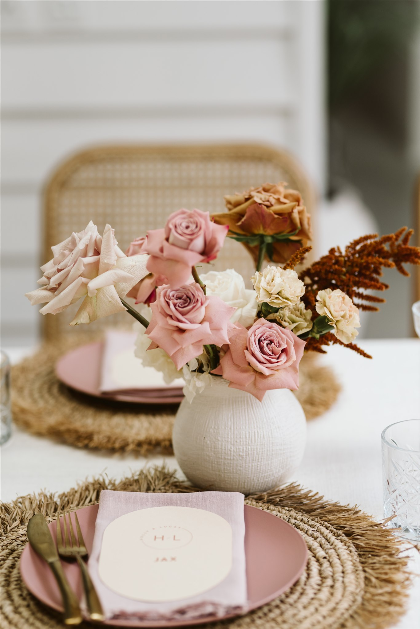 Styled decor and fashion shoot